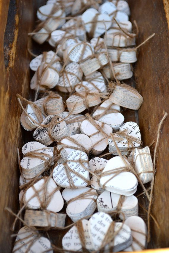 Wedding Confetti French Hearts by LaPommeEtLaPipe on Etsy, $37.50