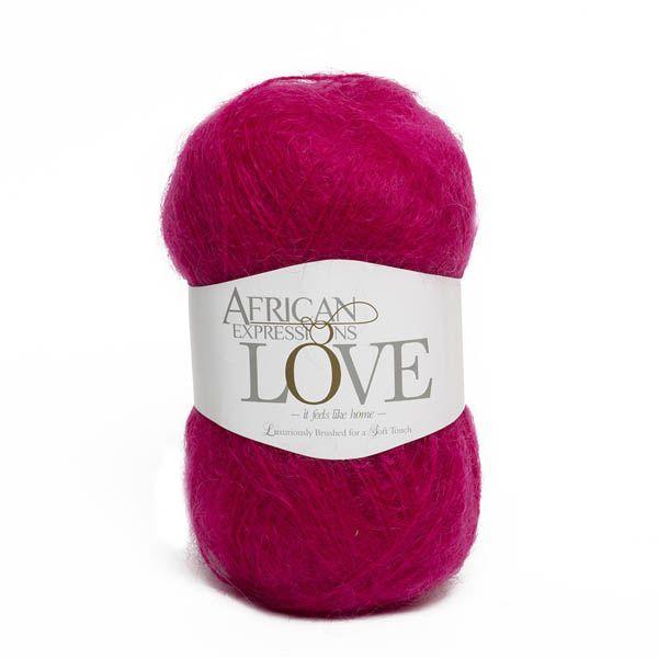 Colour Love Hot pink, Chunky weight,  African expressions 3109, knitting yarn, knitting wool, crochet yarn, kid mohair yarn, merino wool, natural fibres yarn.