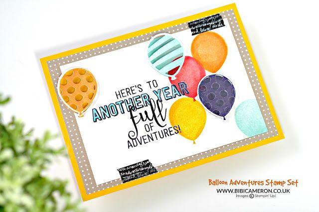 Balloon Adventures Stamp Set by Stampin' Up! GDP063   UK Independent Stampin' Up! Demonstrator Bibi Cameron