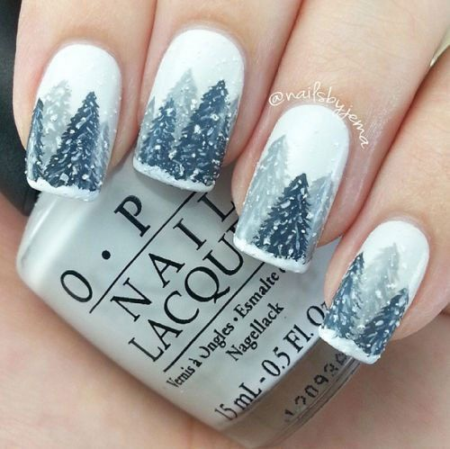 60 Beautiful Nail Designs to Try This Winter - 25+ Best Winter Nail Art Ideas On Pinterest Short Nails Art