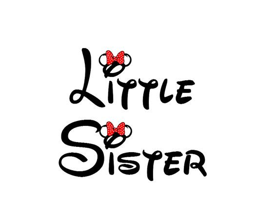 Disney Little Sister Iron on Transfer by AreWeThereYetDesigns, $5.00