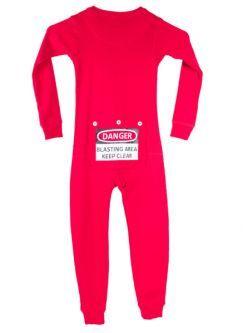 591180c3ff Kid s Red Union Suit Pajamas