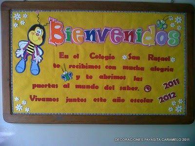 Payasita Caramelo: CARTELERA DE BIENVENIDA 2011-2012