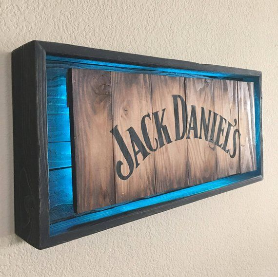 Rustic JACK DANIEL'S Light up sign