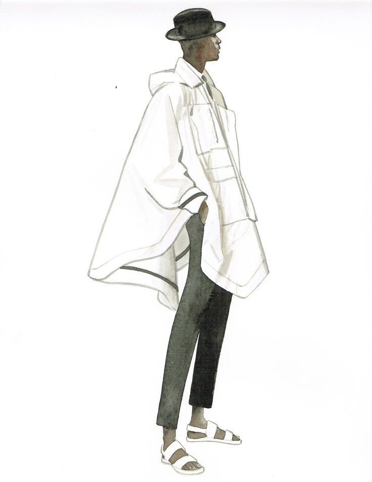 Menswear illustration by Lamont O'Neal