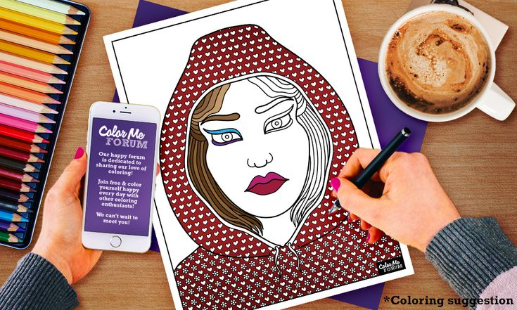 New Coloring Page: Hooded Gal - Color Me Announcements - Color Me Forum
