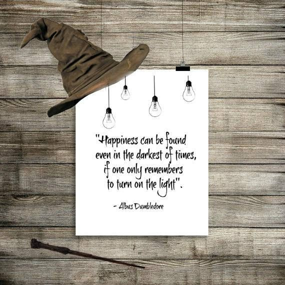 Happiness Can Be Found In The Darkest Of Times Quote: Best 25+ Harry Potter Wall Art Ideas On Pinterest