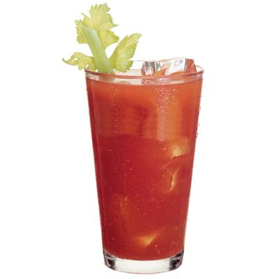 My dad's Bloody Mary recipe - very simple and the best ever!   Use an old-fashioned glass (short, round glass). Put 1 oz of vodka in glass, add a few shakes of celery salt and regular salt, a couple of shakes of worchestershire sauce, 2-3 shakes of tabasco (more if you like spiciness), and squeeze a slice of lime into the glass. Fill 2/3 full with V-8 or tomato juice, stir well, and add ice. Garnish with celery if you want and enjoy!
