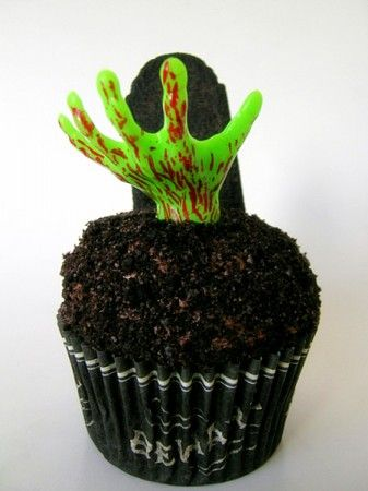 This Zombie cupcake would be perfect for Mardi Gras with a little rum in the mix and cherry brandy in the frosting.