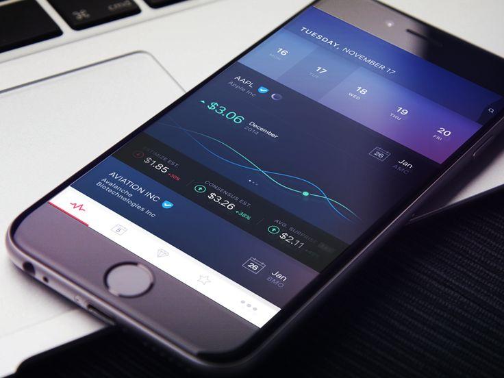 UI 디자인 - 앱 배경의 그라이언트 효과가 앱과 잘 어울리는것 같고 부분적으로 밝게 효과가 되어 있는 부분을 참고한다.