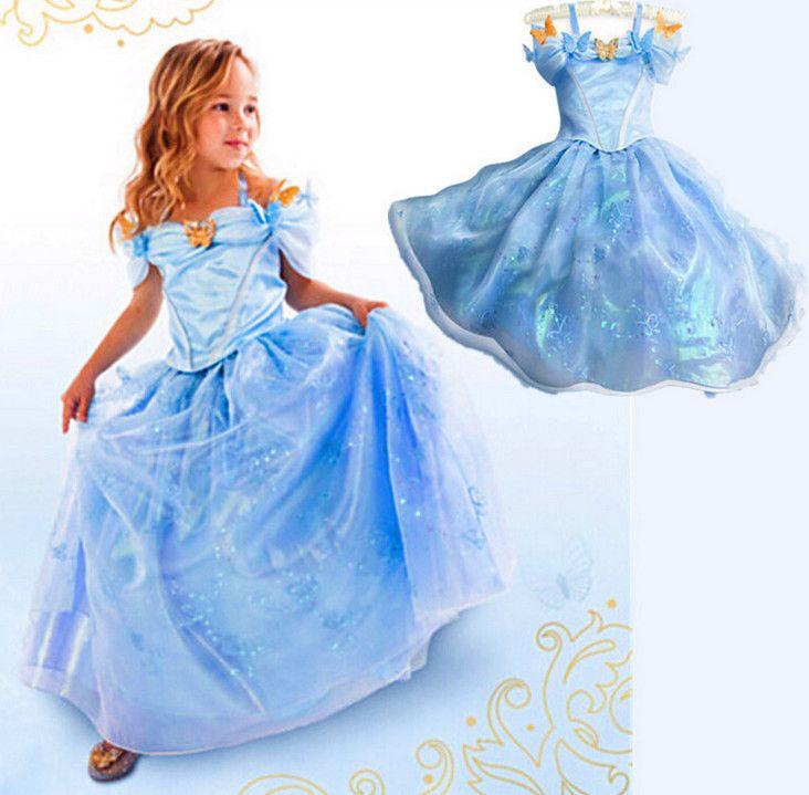 Купить Новый 2015 новорожденных девочек одеваться золушка мультфильм детская одежда ну вечеринку платье принцессы для девочек косплей костюм vestidos infantisи другие товары категории Платьяв магазине baby clothing factoryнаAliExpress. платья надеть на свадьбу для девочек и платье секс