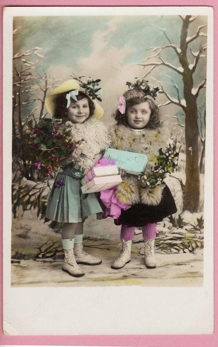 Edwardian Christmas Girls