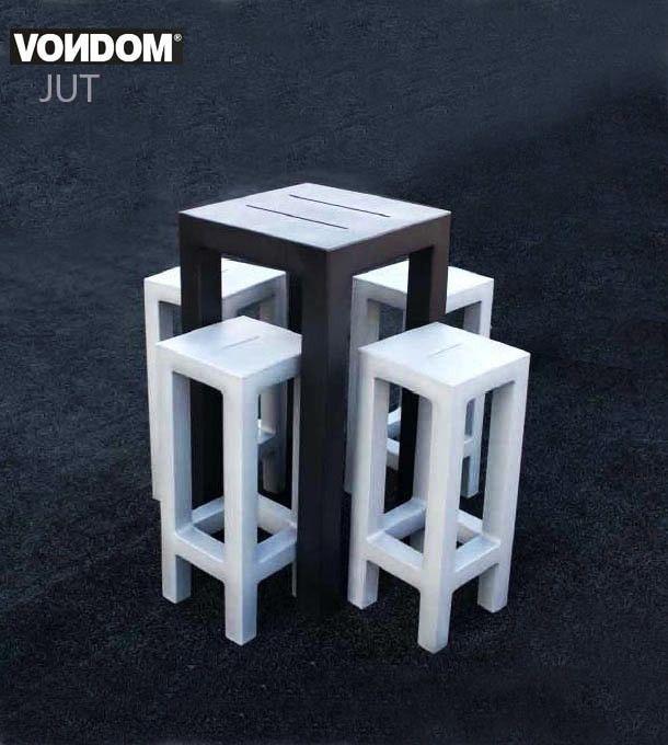 Ensemble de jardin JUT, Table Haute et 4 Tabourets, Design by ...