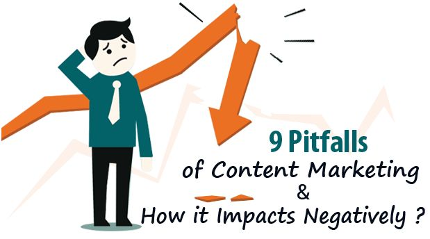 9 Pitfalls of Content Marketing and how it Impacts Negatively