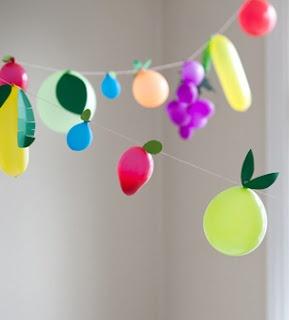 So cute!: Parties Frostings, Fruit Balloon, Shower Ideas Inspiration, Monkey Parties, Kids Parties, Birthday Parties, Fruitballoon, Summer Parties, Parties Ideas