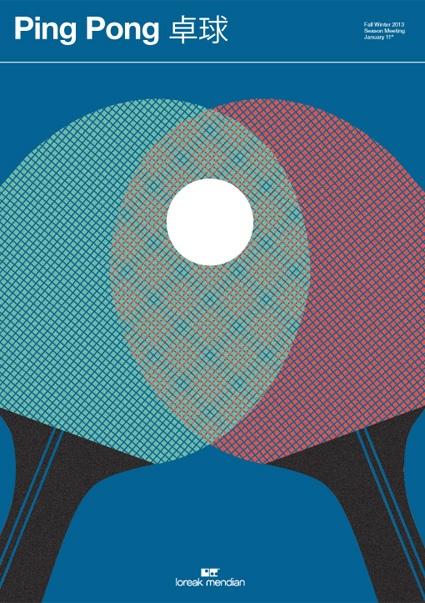 Pingpong poster Loreak Mendian
