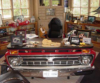 Alan Jackson S Desk Automotive Decor Car Furniture Automotive Furniture