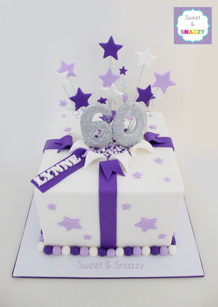 60th Cake - present cake - star explosion cake by Sweet & Snazzy https://www.facebook.com/sweetandsnazzy