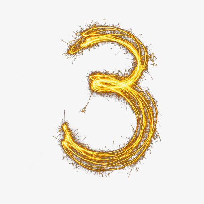 Blaze Number 3 Number Golden White Png Transparent Clipart Image And Psd File For Free Download Clip Art Image Clipart Images