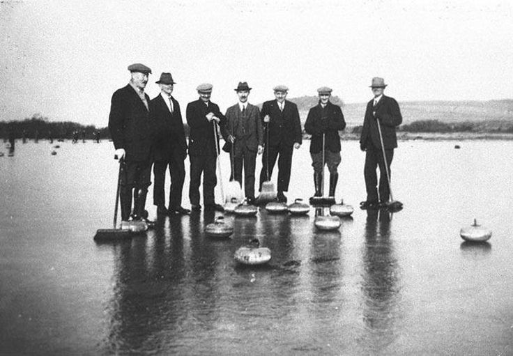 Curling on Nummerston Loch outside Whithorn 1900