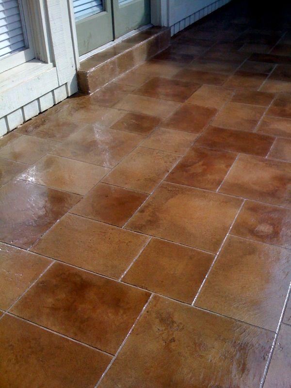 antique stained decorative concrete tile flooring memphis ...