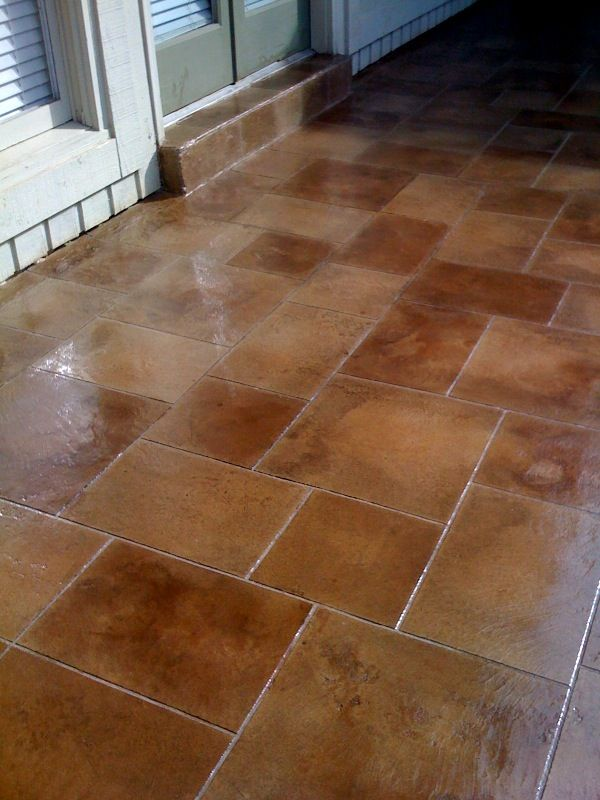 Floor Tile Concrete : Best images about concrete flooring downstairs on