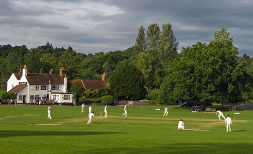 Village cricket at Tilford Green, Surrey
