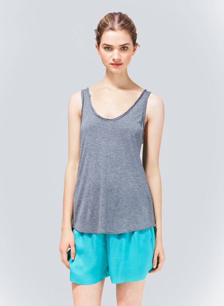 WILFRED GABY TANK - A relaxed, easy-wear tank finished with raw-edge binding
