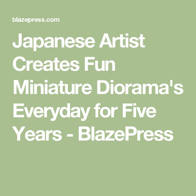 Best A Scale Models Dioramas Miniatures Images On - Japanese artist creates fun miniature dioramas everyday for five years