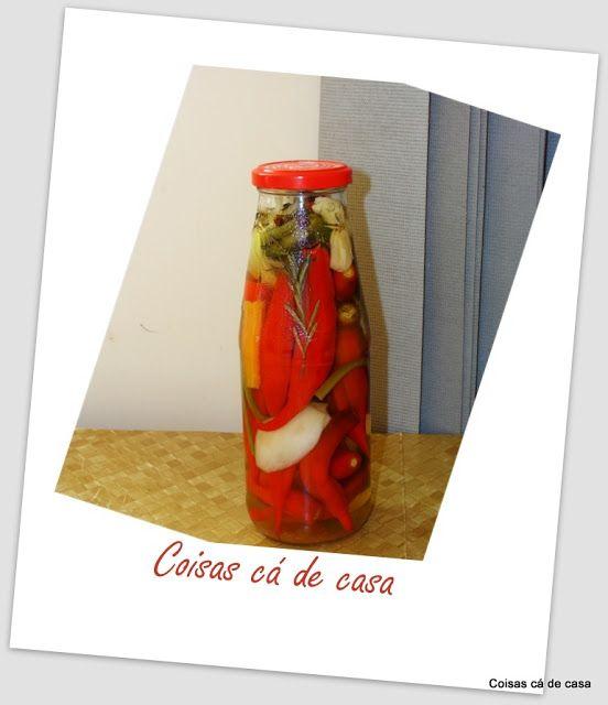 Coisas cá de casa: Conserva de pimenta em vinagre branco