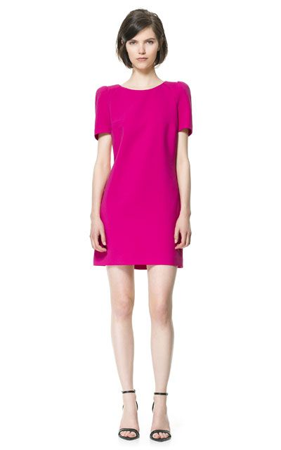 Hot pink Zara dress £49.99 http://www.zara.com/webapp/wcs/stores/servlet/product/uk/en/zara-neu-S2013/358003/1220514/DRESS+WITH+SHOULDER+PADS