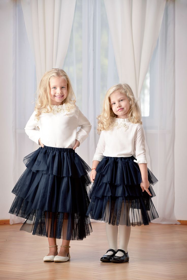 Designers for kids cute little girls dressed in Rhea Costa style collection for children parties, girls fashion perfect look