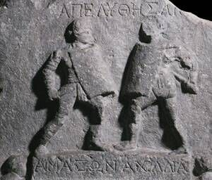 A gladiatrix was the female counterpart to the male gladiator, an armed fighter who engaged in violent combat with humans or animals for the entertainment of audiences in the arenas of the Roman Republic and Roman Empire. Though very rare, gladiatrices are attested in archaeology and literature.