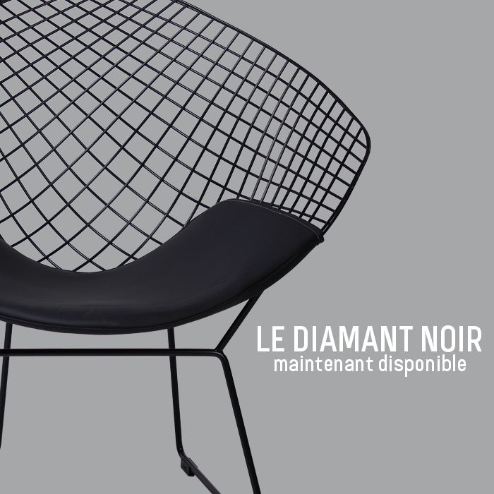 nouveau d couvrez la splendide diamond chair inspir e par. Black Bedroom Furniture Sets. Home Design Ideas