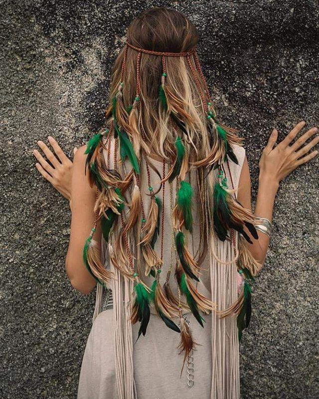 Boho hair.