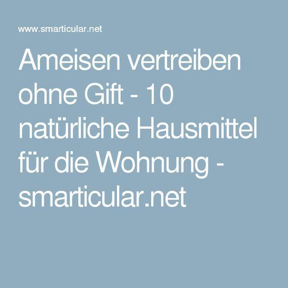 Ameisen vertreiben ohne Gift - 10 natürliche Hausmittel für die Wohnung - smarticular.net
