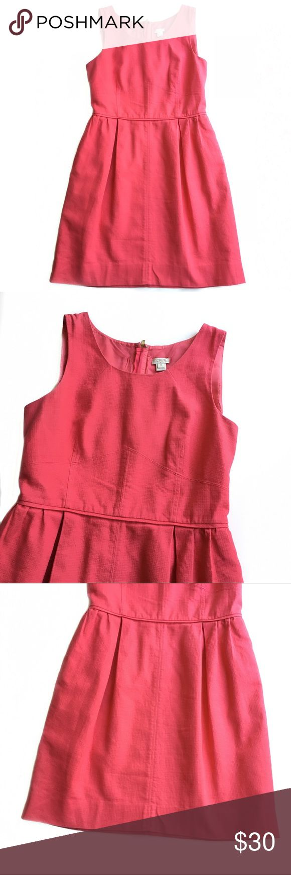 J. CREW | Coral Pink Textured Cotton Dress Size 8 J. Crew coral pink textured cotton dress Dress is free of stains or holes  Size 8  Bundle two or more items in my closet for a low price offer! J. Crew Dresses Mini