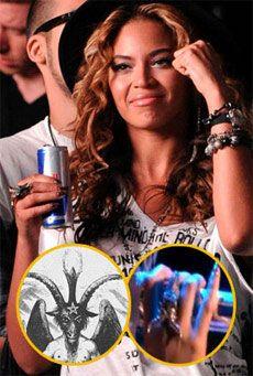 Beyonce w/baphomet ring