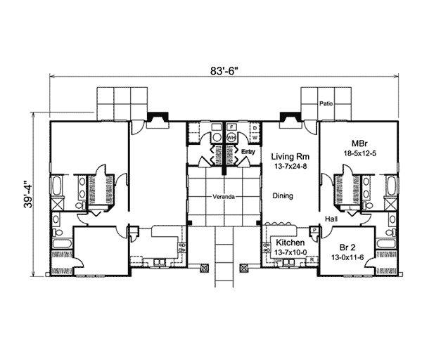 17 Best Images About Duplex House Plans On Pinterest