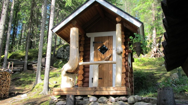 Hand Made Outside Toilet in Finland (Every Cottage has an outisde toilet pretty much still) - Ilta-Sanomat