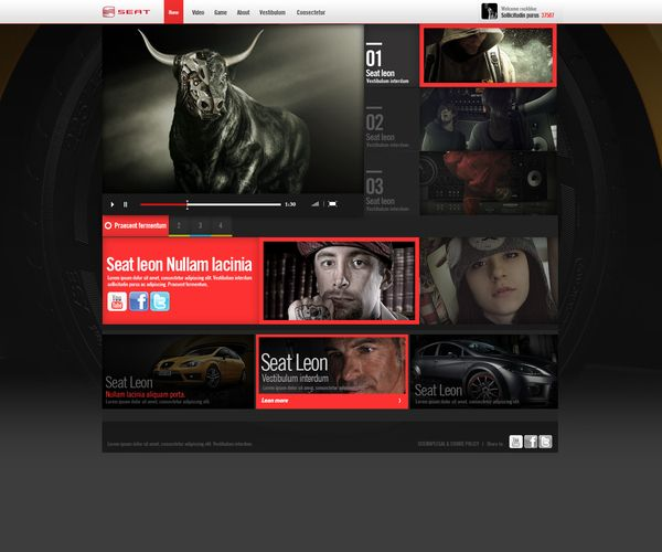 +Seat leon+ by Rockblue , via Behance