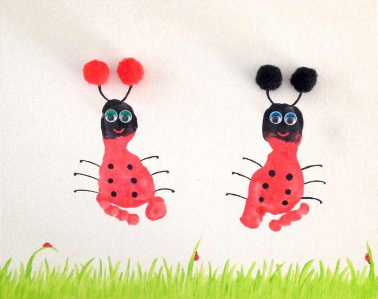 Lieve lieveheersbeestjes van voetjes... Sweet ladybugs of little feet...