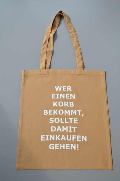 Jutebeutel mit Spruch // quote print tote bag via DaWanda.com