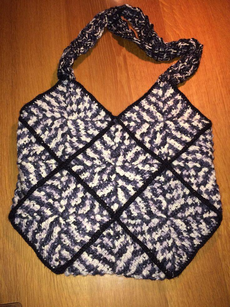 Taske af firkanter til søster