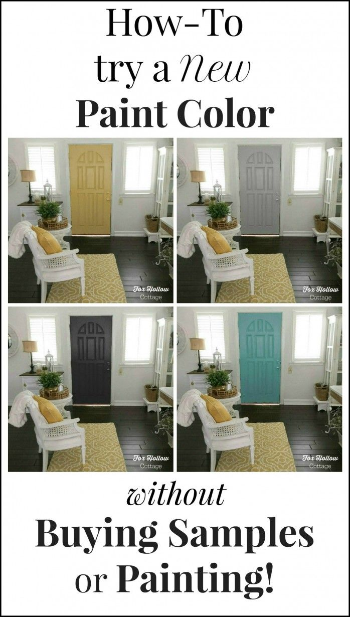 How to try a new paint color without buying samples or painting - foxhollowcottage.com framed
