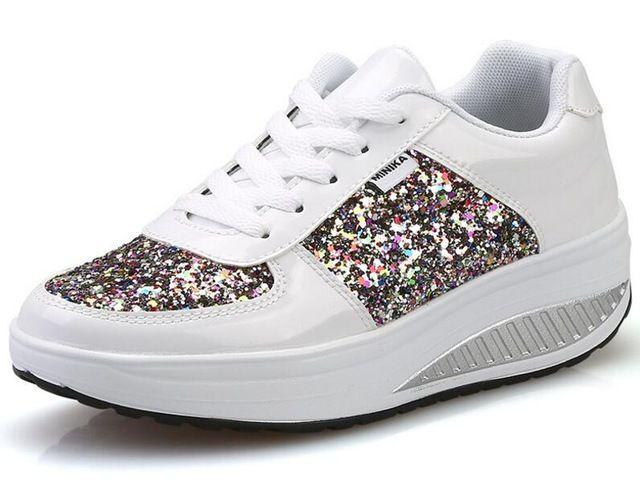 {D & H} Fresco Oro Lentejuelas Primavera/Otoño Zapatos de Las Mujeres Zapatos Casuales Zapatos de Deporte de Moda Zapatos Para Caminar Oscilación cuñas Zapatos de Mujer Botines en Calzado vulcanizado mujer de Zapatos en AliExpress.com | Alibaba Group