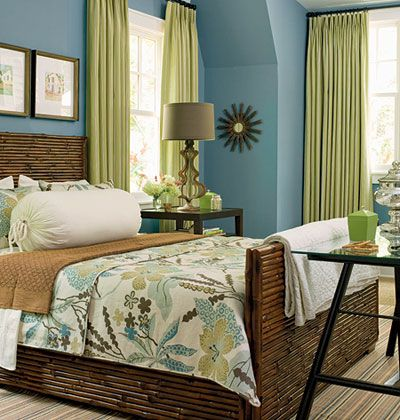 Beautiful colors for a coastal style bedroom!