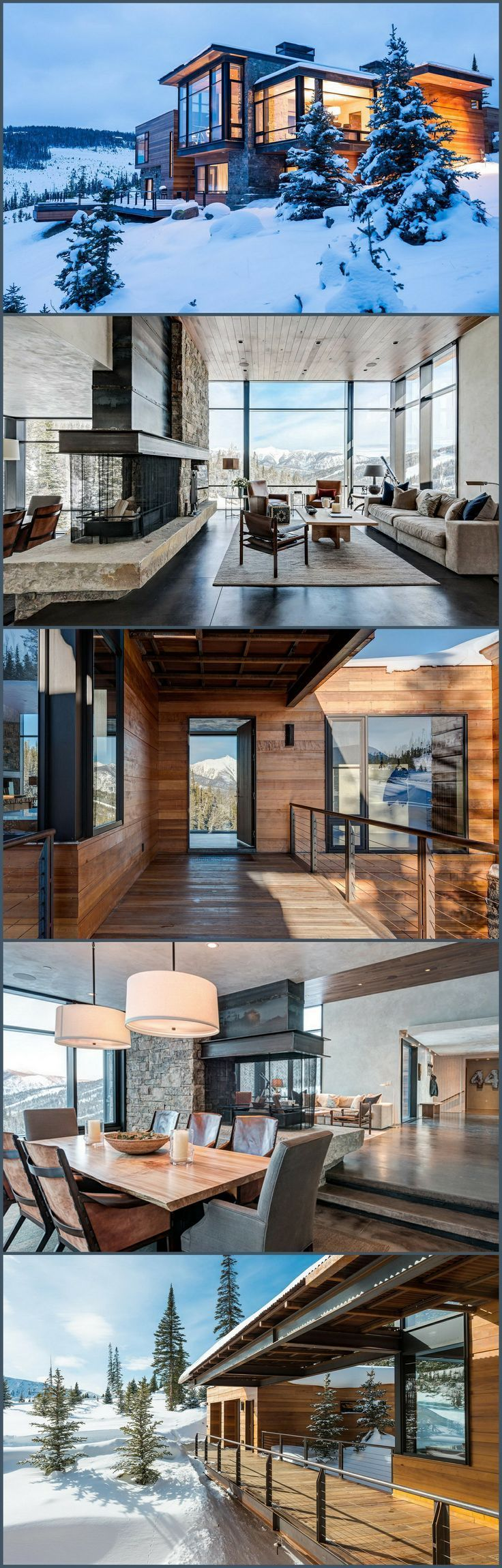 Modern Montana Mountain Home - Style Estate ==> http://blog.styleestate.com/style-estate-blog/modern-montana-mountain-home.html