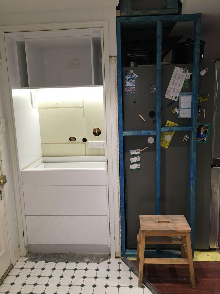 #butlerspantry #appliancecupboard #lettherebelight #internallights #LEDstrip #before #mynewkitchen #reno #kitchenreno #storage #home #corporatemamahome