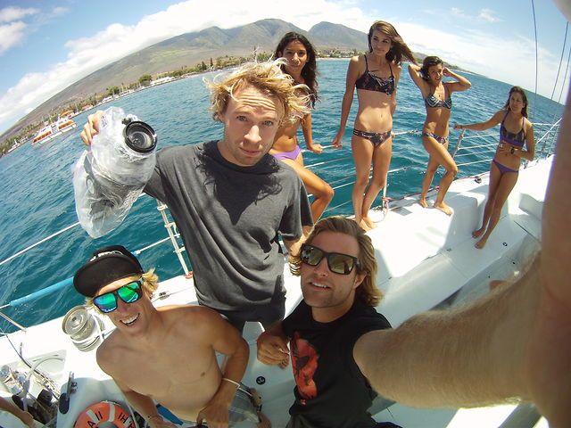 James Boulding i Sam Medysky na Maui w marcu 2013.